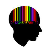 Bar code head. Intellect bar code head Stock Photos