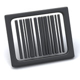 Bar code icon 3d. Abstract bar code icon 3d Royalty Free Stock Image