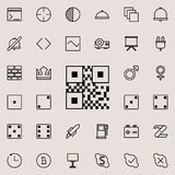 Bar code icon. Detailed set of minimalistic line icons. Premium graphic design. One of the collection icons for websites, web desi. Gn, mobile app on colored Stock Image