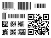 Bar code icon qr code symbol vector. Identification digital code Stock Image