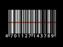 Bar code illustration Stock Photos