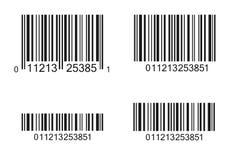 Bar Code Illustration. Multiple barcode illustrations isolated on a white background stock illustration