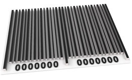 Bar Code isolated on white Royalty Free Stock Images