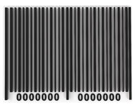 Bar Code isolated on white Stock Photo