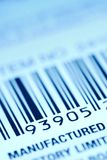 Bar code label. On a product package Royalty Free Stock Photos