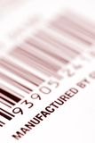 Bar code label. On a product package Stock Image
