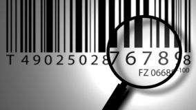 Bar code label Stock Photography
