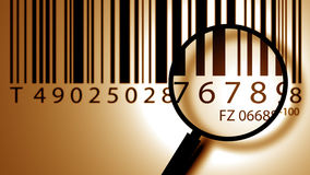 Bar code label Stock Image