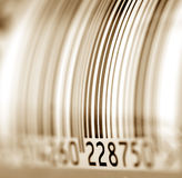 Bar code label Royalty Free Stock Image