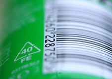 Bar code label Royalty Free Stock Photography