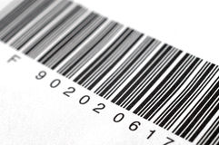 Bar code label. A detail view of bar code label Stock Photo