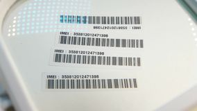 Bar Code Label. Close up of a standard barcode label stock video footage