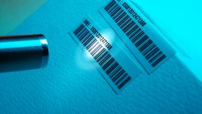 Bar Code Label. Close up of a standard barcode label stock footage