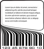 Bar code label with copy-space. Stock Image
