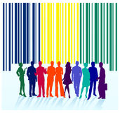 Bar code label, group Stock Images
