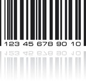 Bar code label with reflection Stock Image