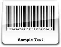 Bar code label with shadow.  Royalty Free Stock Images