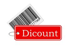 Bar code with labeling. Isolated on white background Stock Image