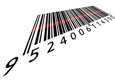 Bar code with laser Royalty Free Stock Image