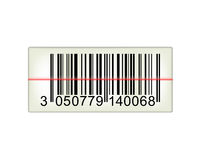 Bar code with laser light Royalty Free Stock Image