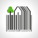 Bar-code make a farmland illustration Royalty Free Stock Photography