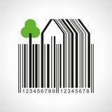 Bar-code make a farmland illustration Royalty Free Stock Photography
