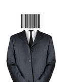 Bar code man stock image