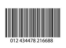 Bar-code no branco Imagem de Stock