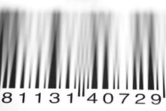 Bar Code Numbers Stock Image