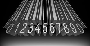 Bar code numbers and lines  Royalty Free Stock Photo