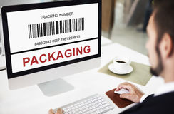 Bar Code Order Tracking Number Concept Royalty Free Stock Photo