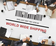 Bar Code Order Tracking Number Concept Royalty Free Stock Photos