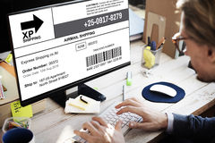 Bar Code Order Tracking Number Concept Royalty Free Stock Image