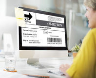 Bar Code Order Tracking Number Concept Stock Image