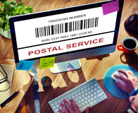 Bar Code Order Tracking Number Concept Royalty Free Stock Photography