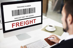 Bar Code Order Tracking Number Concept Royalty Free Stock Images