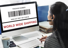 Bar Code Order Tracking Number Concept Stock Photography