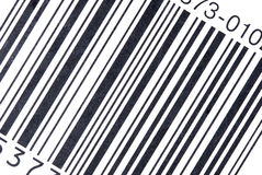 Bar Code on package Stock Photos