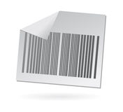 Bar code paper icon. Isolated bar code element as icon or button to be used for e commerce and shopping web sites Royalty Free Stock Photo