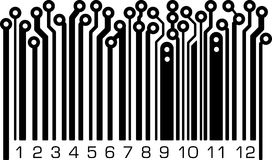 Bar code in PCB-layout style. Royalty Free Stock Image