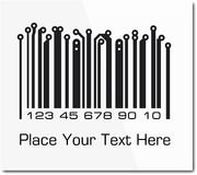 Bar code in PCB-layout style. Royalty Free Stock Images