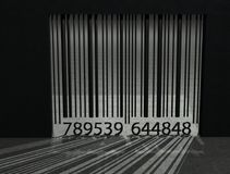 Bar code prison. Bar code is presented as prison bars and we are trapped inside Stock Photography