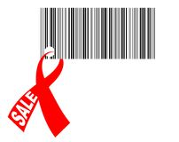 Bar-code with ribbon Royalty Free Stock Images