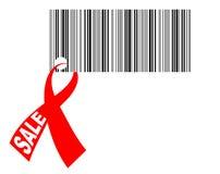 Bar-code with ribbon. Vector illustration - Bar-code with ribbon Royalty Free Stock Images