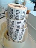 Bar code rolls. Close-up of bar code rolls royalty free stock photos