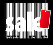 Bar-code sale background Royalty Free Stock Photography