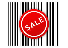 Bar code with SALE sticker Stock Image