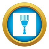Bar code scanner icon blue vector isolated. On white background for any design vector illustration