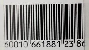Bar Code. Scanning a bar code. Bar code close-up stock video