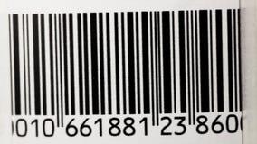 Bar Code. Scanning a bar code. Bar code close-up stock video footage